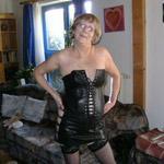 Frau in leder reife Mature In